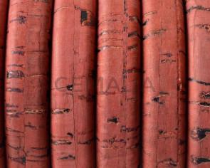 Corcho REGALIZ. Oval 10x6mm . Rojo-t . Calidad superior