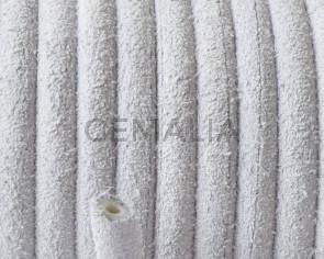 Piel de serraje. Redondo 5mm. Blanco.Hueco. Int.1,5mm aprox. Calidad Superior
