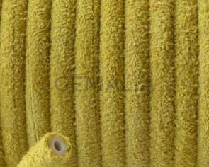 Piel de serraje. Redondo 5mm.Amarillo.Hueco.Int.1,5mm aprox. Calidad Superior