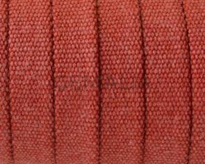 Tejido jeans. Plano 10x2mm. Rojo. Calidad superior