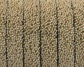 Caviar sintetico. Plano 10x2,2mm. Beige 2. Calidad superior