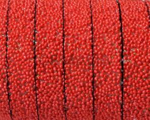 Caviar sintetico. Plano 10x2mm. Rojo. Calidad superior