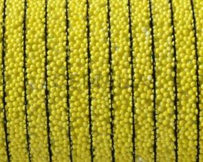 Caviar sintetico  Plano. 5x2mm. Amarillo. Calidad superior