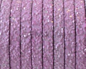 Tira fantasia sintetica. Plano 5x2mm. Rosa. Calidad superior