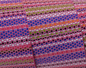 Tira de piel Plano 30x1,5mm. Rosa multicolor. Calidad superior