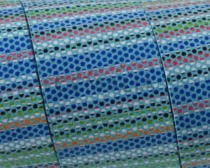 Tira de piel Plano 30x1,5mm. Azul multicolor. Calidad superior