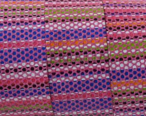 Tira de piel Plano 20x1,5mm. Rosa multicolor. Calidad superior