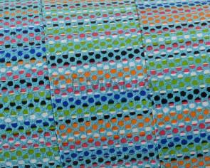 Tira de piel PLano 20x1,5mm. Azul multicolor. Calidad superior