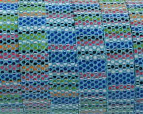 Tira de piel. 10x1,5mm. Azul multicolor. Calidad superior