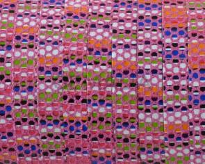 Tira de piel. 5x1,5mm. Rosa multicolor. Calidad superior