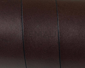 Cuero Plano 20x1,5mm. Marron Oscuro cantos negros. Calidad superior1,10-1,20M/tira