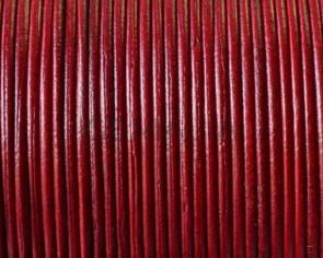 Piel de Canguro. Redondo 1mm. Rojo. Calidad superior