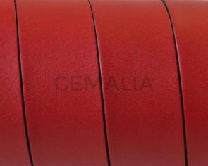 Cuero Plano 20x1,5mm. Rojo-cantos Negros. Calidad Superior1,10-1,20M/tira