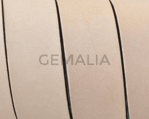 Cuero Plano 20x1,5mm.Natural-cantos Negros. Calidad Superior1,10-1,20M/tira