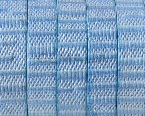Cuero Plano 10x1,5mm. Azul-brillantina. Calidad superior
