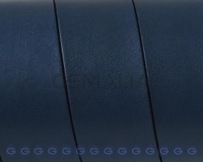 Cuero Plano 20x1,5mm. Azul marino-Cantos negros. Calidad superior