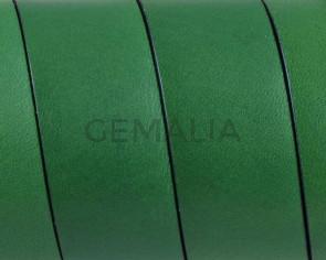 Cuero Plano 20x1,5mm. Verde-Cantos negros. Calidad superior