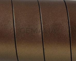 Cuero Plano 20x1,5mm. Oro viejo metalizado 3-Cantos negros. Calidad Superior