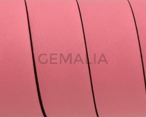 Cuero Plano 20x1,5mm. Rosa claro-Cantos negros. Calidad superior