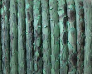 Serpiente Piton. Redondo 4mm. Hueco. Verde. Int.0,8mm aprox. Calidad Superior