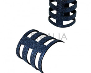 Pulsera de Piel de serraje. 180x60mm. Azul marino. Calidad superior