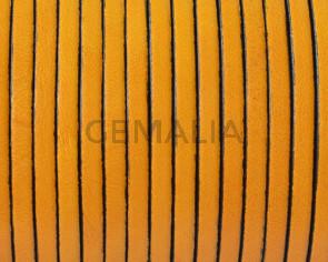 Cuero Plano 3x1,5mm. Amarillo-cantos negros. Calidad superior.