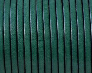 Cordon de cuero Plano 3x1,5mm. Verde oscuro-cantos negros. Calidad superior.
