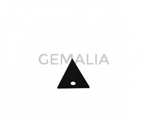 Colgante triangulo de Cuero 20x19mm. Negro. Int.2mm. Calidad Sup.