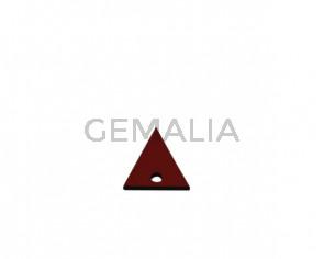 Colgante triangulo de Cuero 20x19mm. Granate. Int.2mm. Calidad Sup.