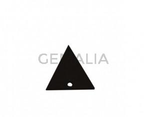 Colgante triangulo de Cuero 30x29mm.Marron oscuro.Int.2mm.Calidad Sup.