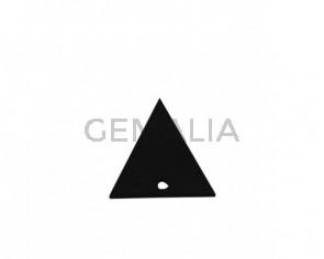 Colgante triangulo de Cuero 30x29mm. Negro. Int.2mm. Calidad Sup.
