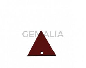 Colgante triangulo de Cuero 30x29mm. Rojo. Int.2mm. Calidad Sup.