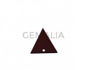 Colgante triangulo de Cuero 30x29mm. Granate. Int.2mm. Calidad Sup.