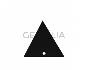 Colgante triangulo de Cuero 35x34mm. Negro. Int.2mm. Calidad Sup.