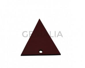 Colgante triangulo de Cuero 35x34mm. Granate. Int.2mm. Calidad Sup.