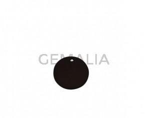Colgante de Cuero 25mm. Marron oscuro. Int.2mm. Calidad superior.