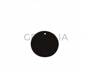 Colgante de Cuero 28mm. Marron oscuro. Int.2mm. Calidad superior.