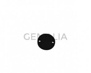Conector de Cuero 21mm. Negro. Int.2mm. Calidad superior.