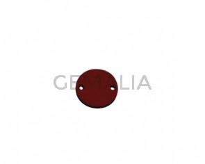 Conector de Cuero 21mm. Rojo. Int.2mm. Calidad superior.
