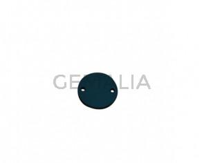 Conector de Cuero 21mm. Azul turquesa. Int.2mm. Calidad superior.