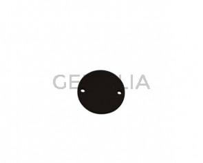 Conector de Cuero 24mm. Marron oscuro. Int.2mm. Calidad superior.