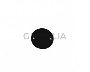 Conector de Cuero 24mm. Negro. Int.2mm. Calidad superior.
