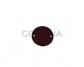 Conector de Cuero 24mm. Granate. Int.2mm. Calidad superior.