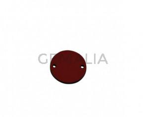 Conector de Cuero 24mm. Rojo. Int.2mm. Calidad superior.