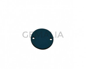 Conector de Cuero 24mm. Azul turquesa. Int.2mm. Calidad superior.