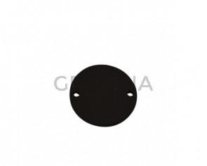 Conector de Cuero 27mm. Marron oscuro. Int.2mm. Calidad superior.