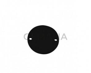 Conector de Cuero 27mm. Negro. Int.2mm. Calidad superior.