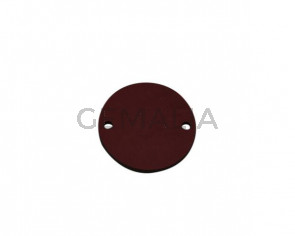 Conector de Cuero 27mm. Granate. Int.2mm. Calidad superior.