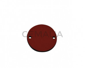 Conector de Cuero 27mm. Rojo. Int.2mm. Calidad superior.