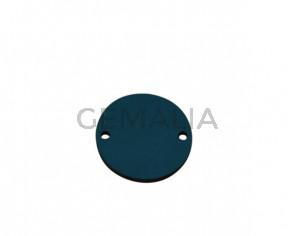 Conector de Cuero 27mm. Azul turquesa. Int.2mm. Calidad superior.